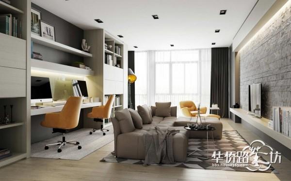 单身公寓之类的可以,结婚后就不容易,电视和电脑办公会有影响吧.