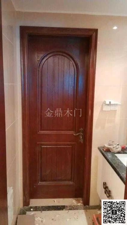 金顶阳光门窗之实木烤漆【扣线】【显纹】门--金鼎