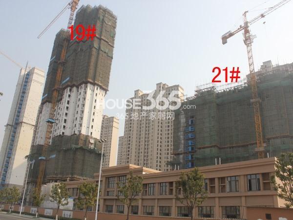 华润国际社区19#、21#楼工程进度图(2015.2)