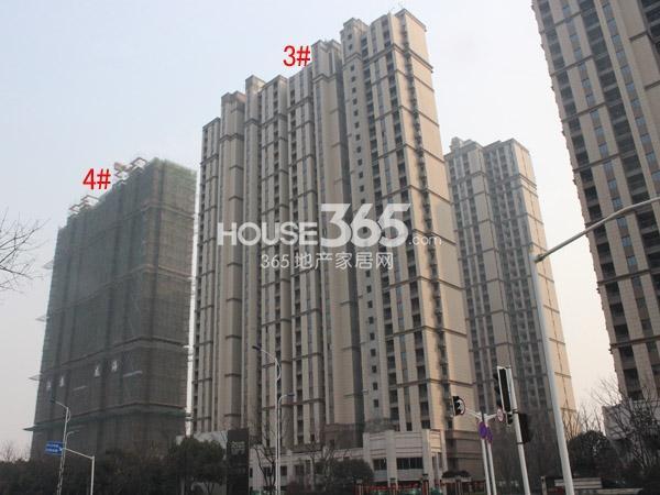 弘阳广场3#、4#楼工程进度图(2015.2)