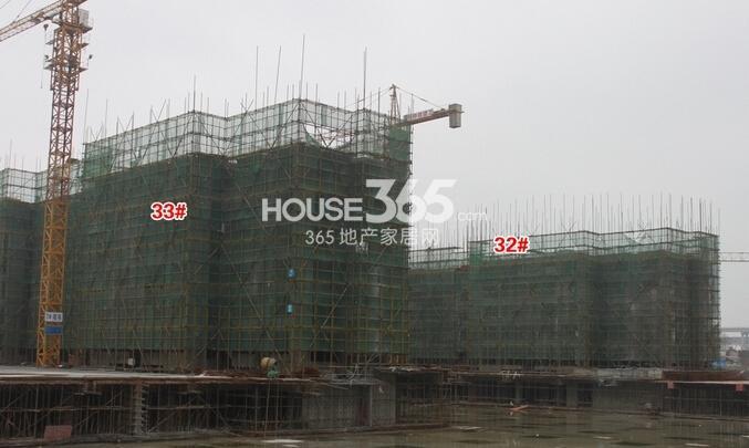 华强城美加印象32#、33#楼工程进度(2015年2月摄)