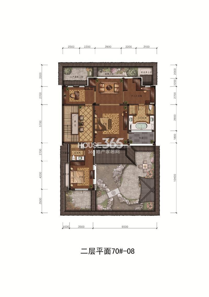 苏州桃花源小合院d9南入户580㎡地上二层户型图图片