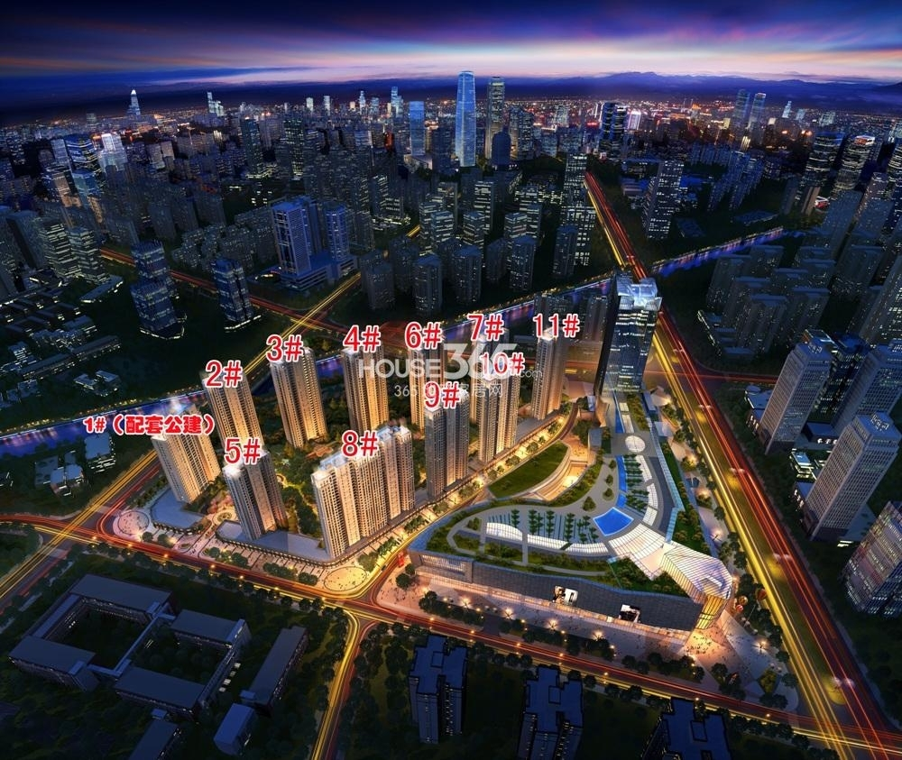 龙湖滨江天街鸟瞰图
