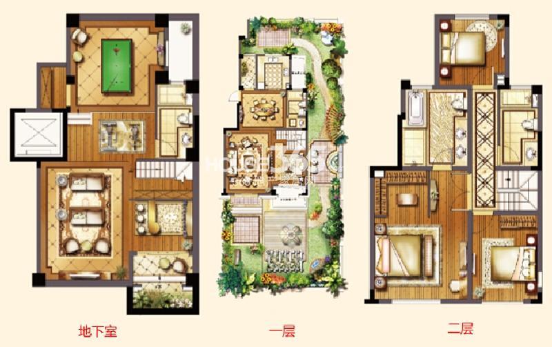 红星国际生活广场洋房D1户型图五室两厅三卫约217㎡