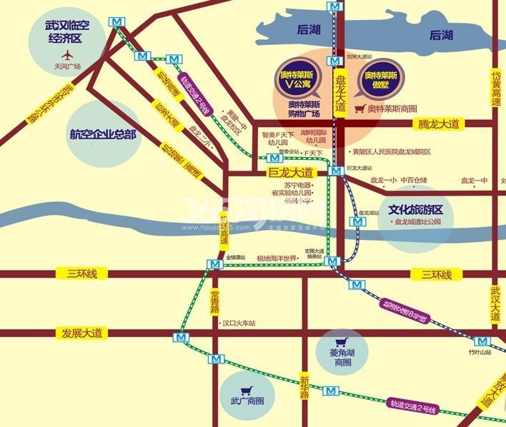 奥特莱斯V公寓交通图
