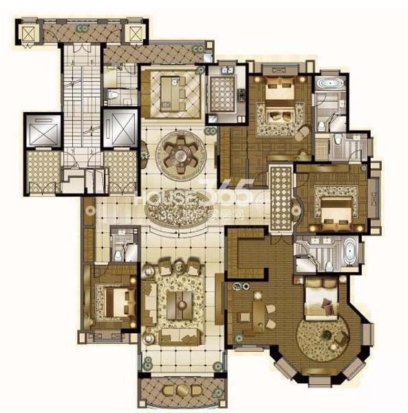 雅居乐中心广场420平户型图