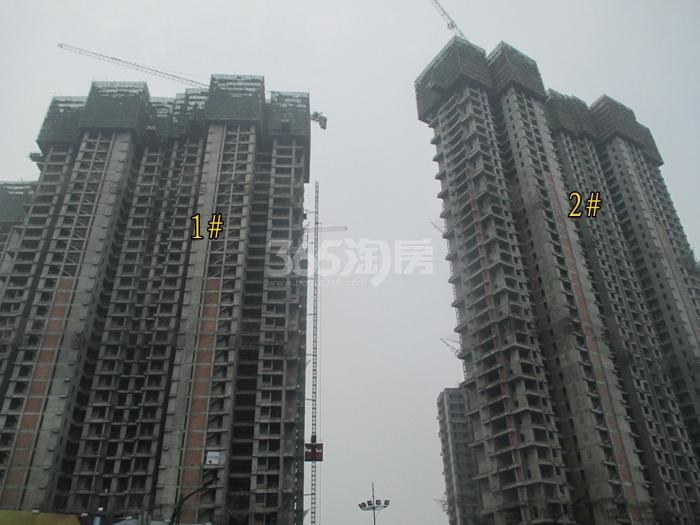 理想银泰城项目1、2号楼施工进程图(2015.6)