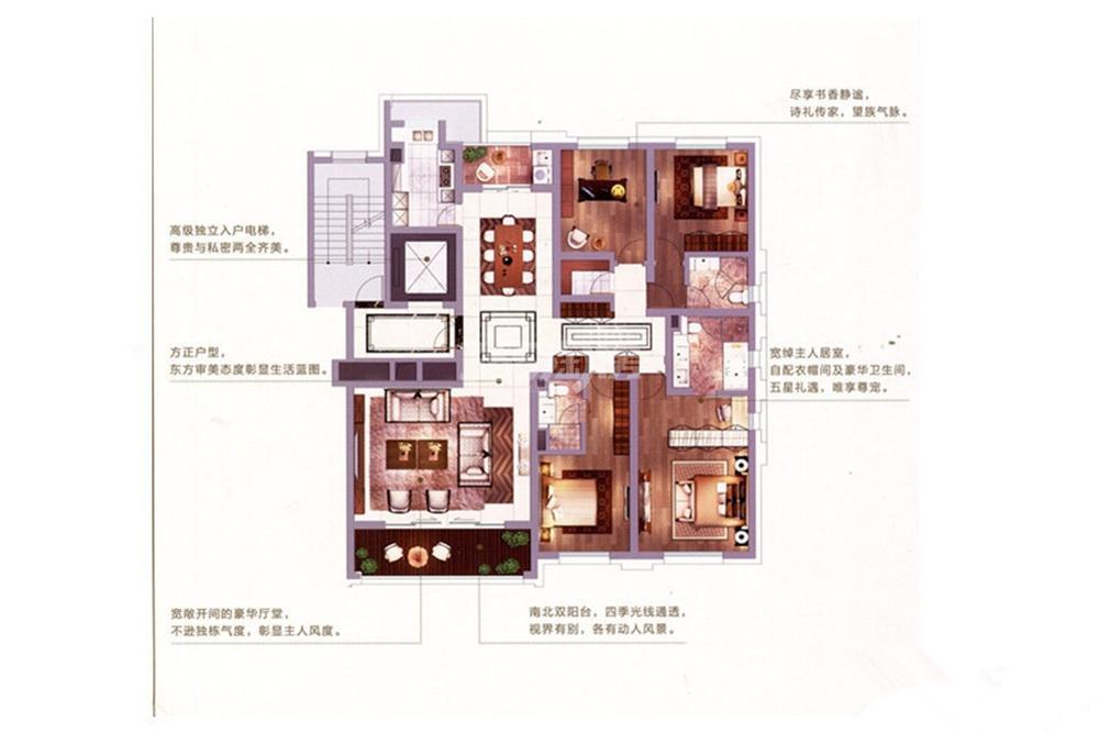 金陵雅颂居项目C1户型213平