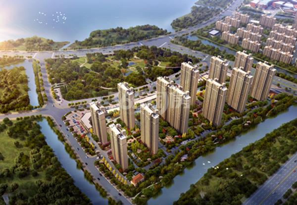 中海双湾锦园鸟瞰图