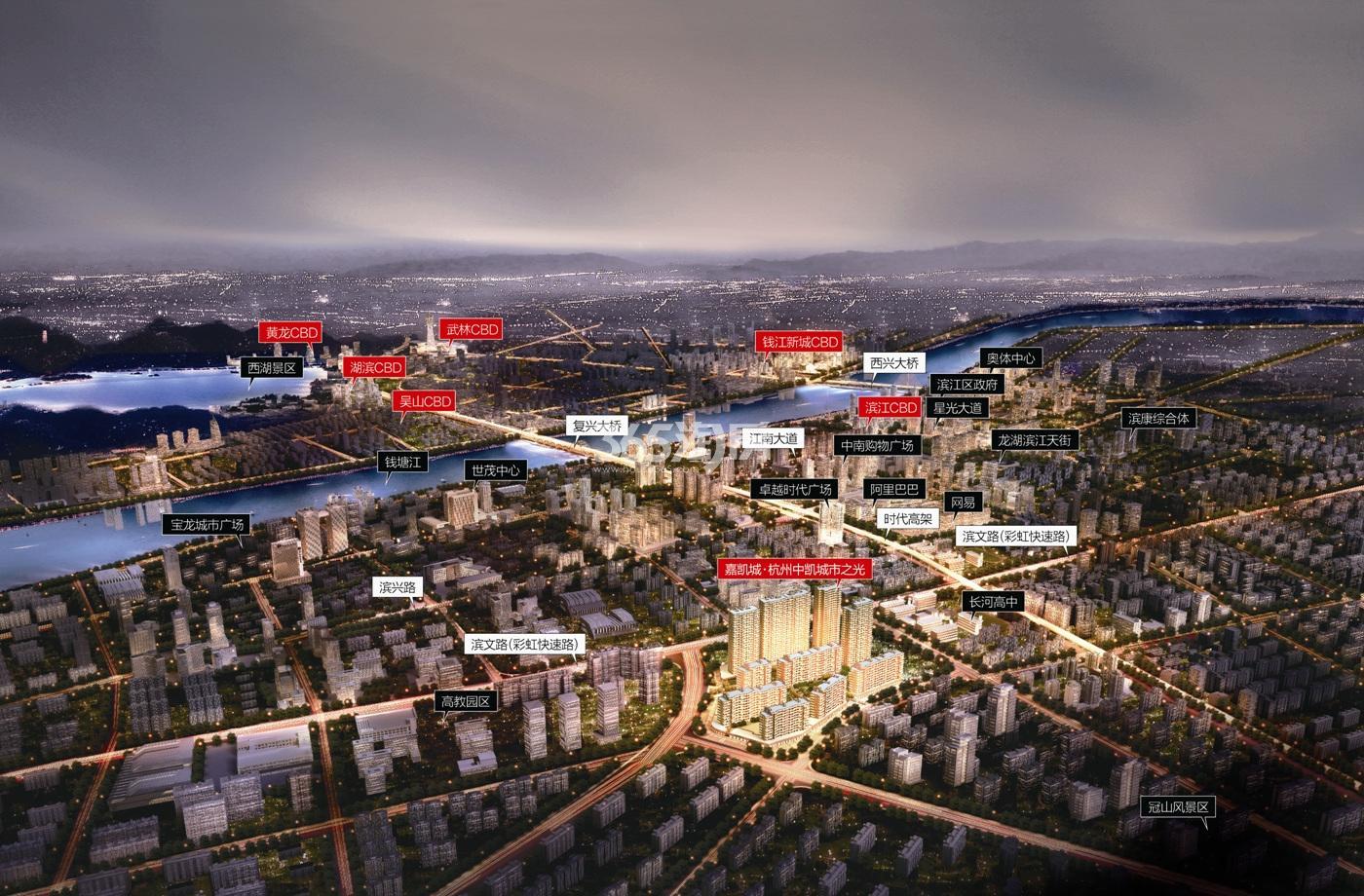 恒大城市之光鸟瞰图