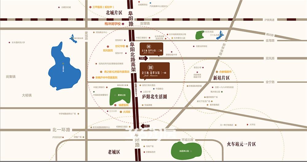 金大地翡翠公馆交通图