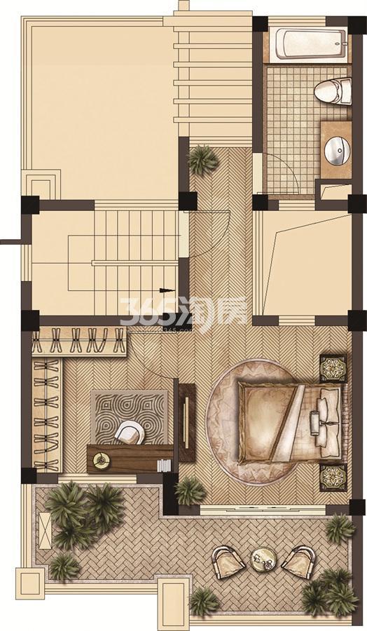武夷绿洲沁荷苑H1三层平面图
