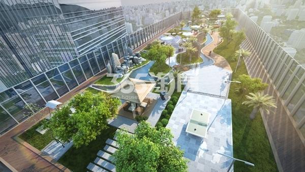 项目空中花园效果图