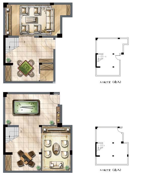 建发独墅湾A1户型地下一层