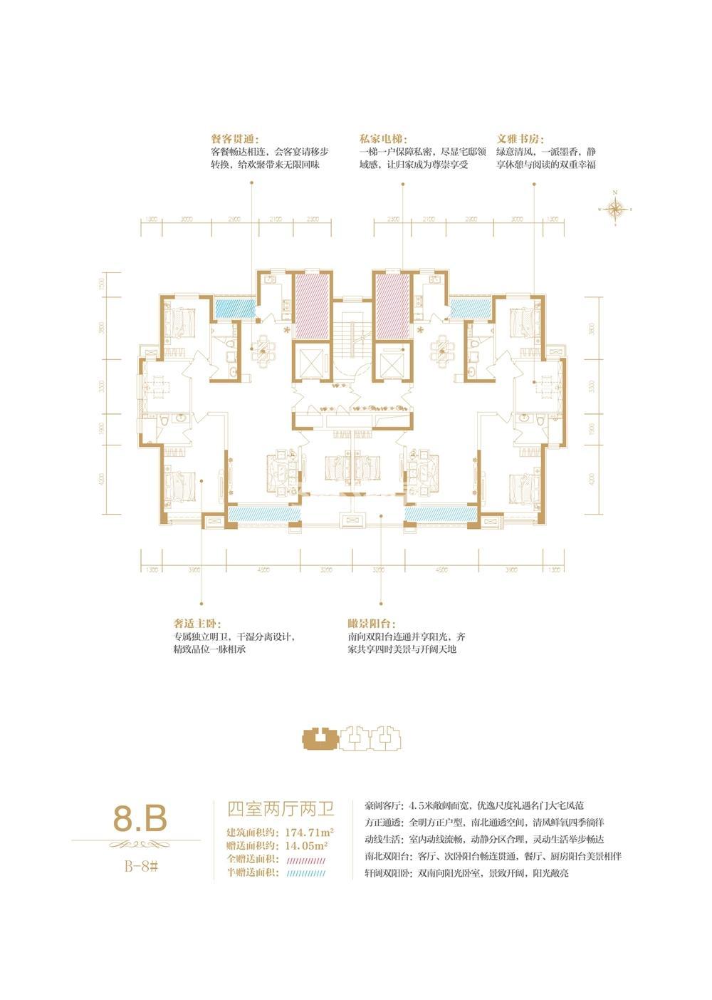 B-8#楼王8B户型