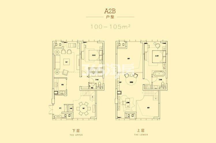 深港亚太中心100-105平A2B户型