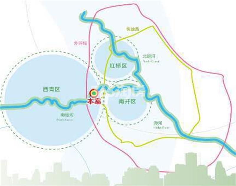 中加生态示范区交通图