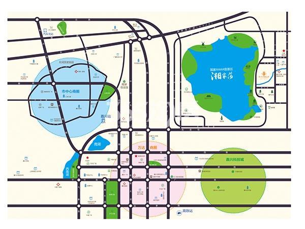 嘉兴恒大香湖左岸交通图