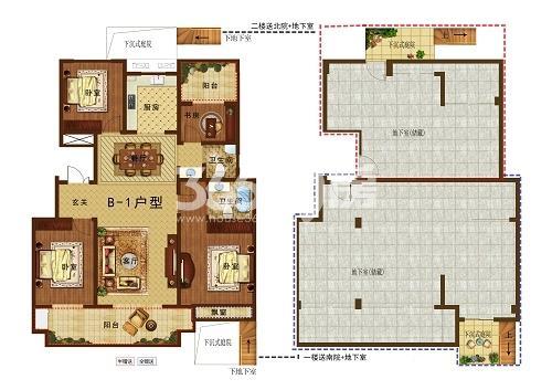B-1楼2楼+地下室