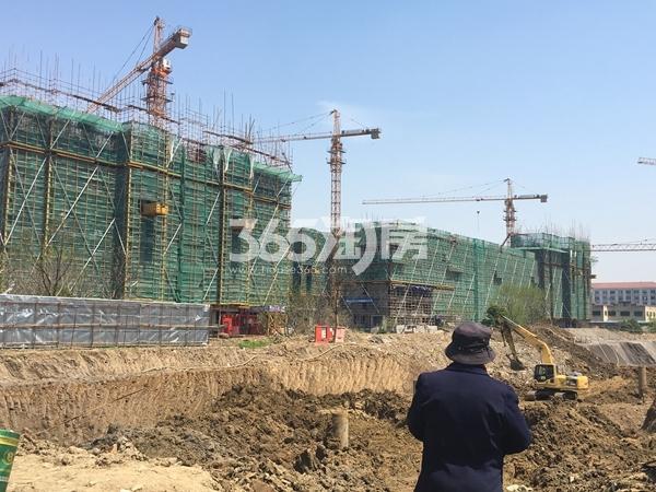 蓝光雍锦里洋房工程进度实景图(2017.4 摄)