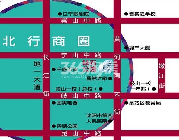 钻石公馆交通图
