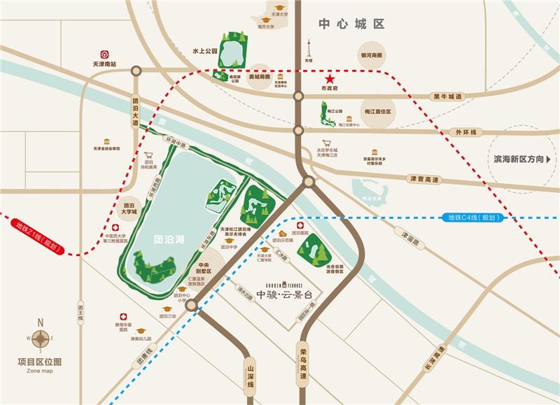 中骏云景台交通图