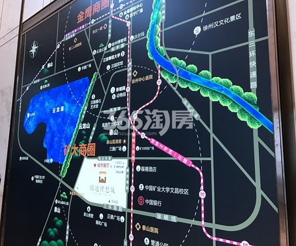 绿地理想城悦山公馆交通图