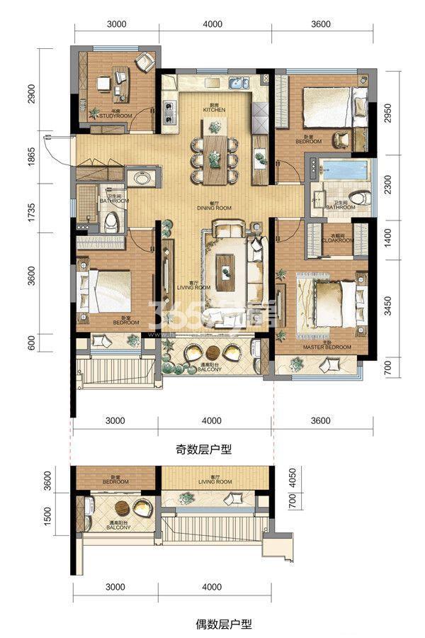 长龙领航城121方户型(7#)