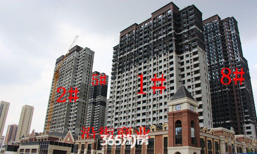 华邦观筑里1、2、5、8#楼工程进度(2017.8)
