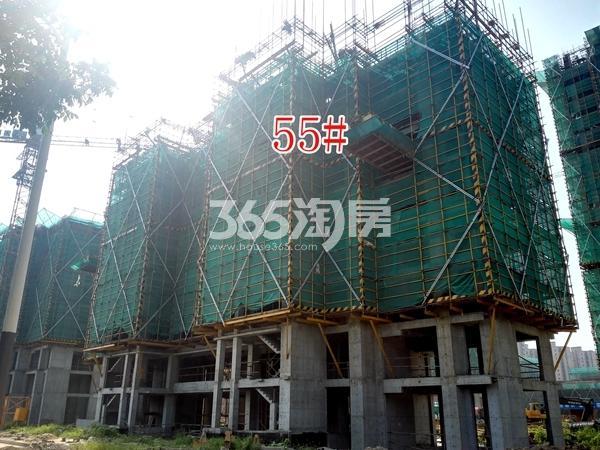 绿地工润和平壹号四期55#工地实景图(8.16)