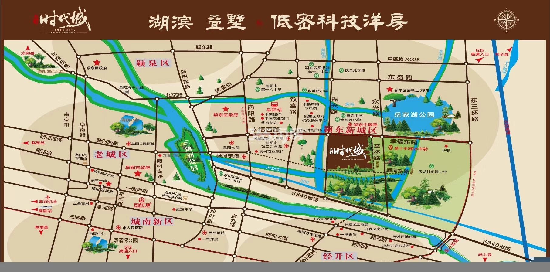 丽丰时代城交通图