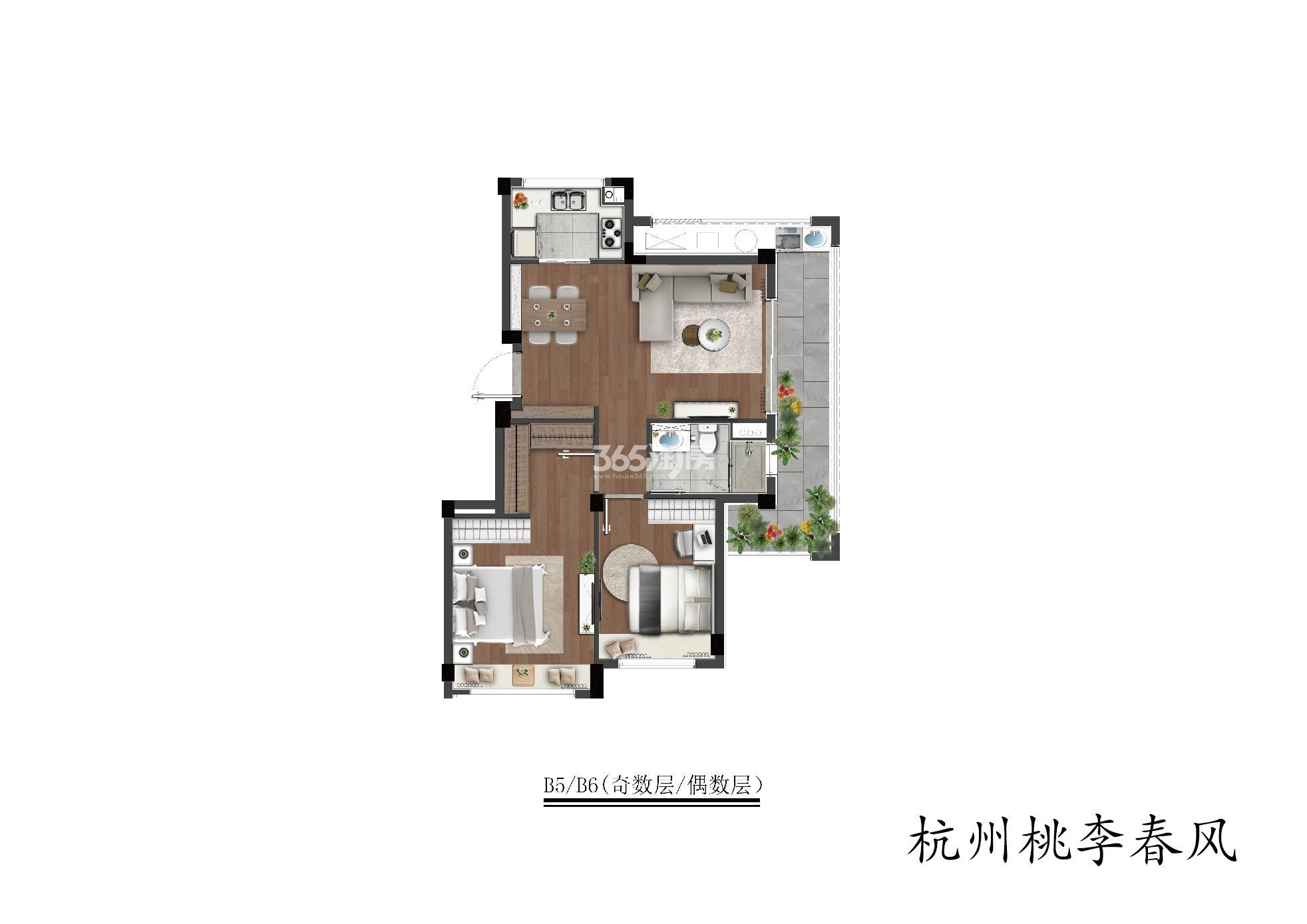 桃李春风B5/b6(奇数层/偶数层)洋房