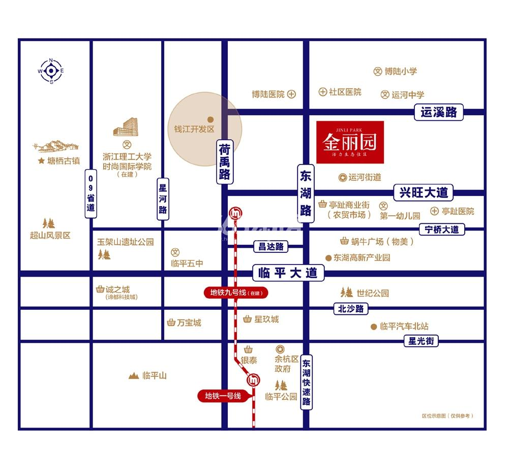 金世纪金丽园交通图