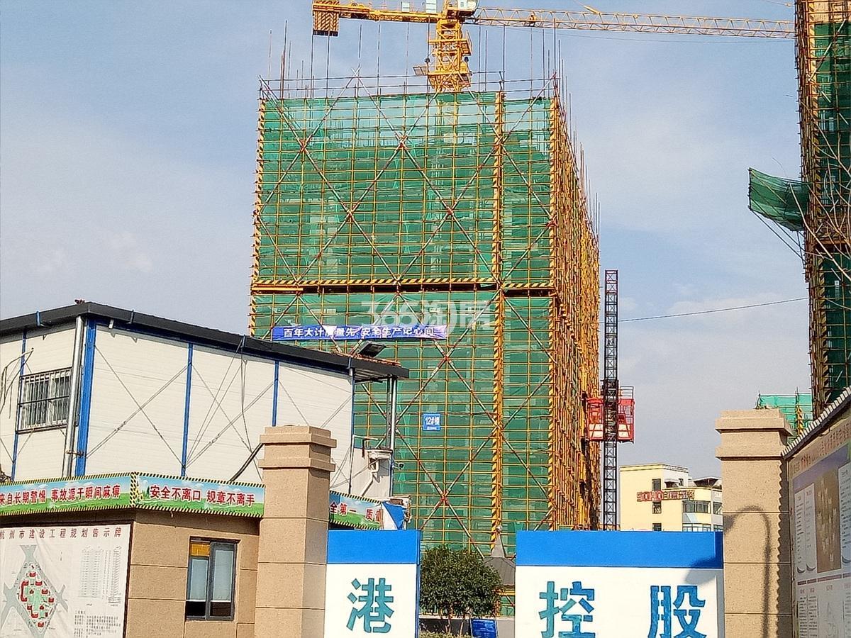 2017年8月底招商远洋春秋华庭12号楼实景