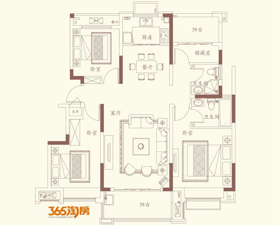 高速御府Y1 114-116㎡户型图