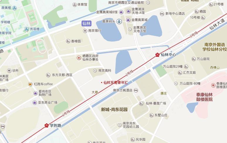仙林东南青年汇交通图