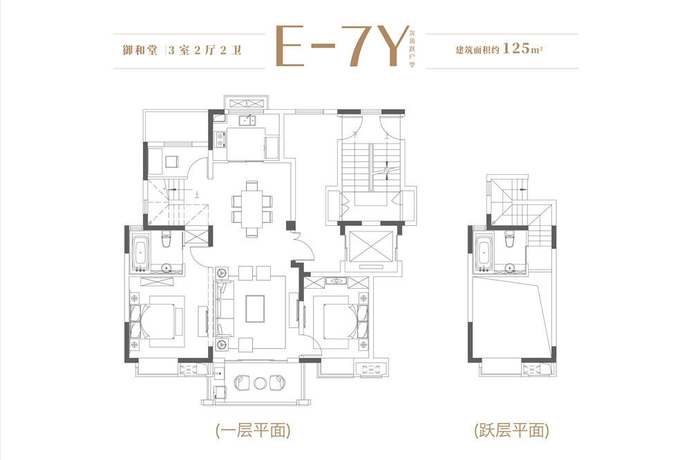 大华锦绣时代御和堂约125㎡低密度多层E-7Y户型