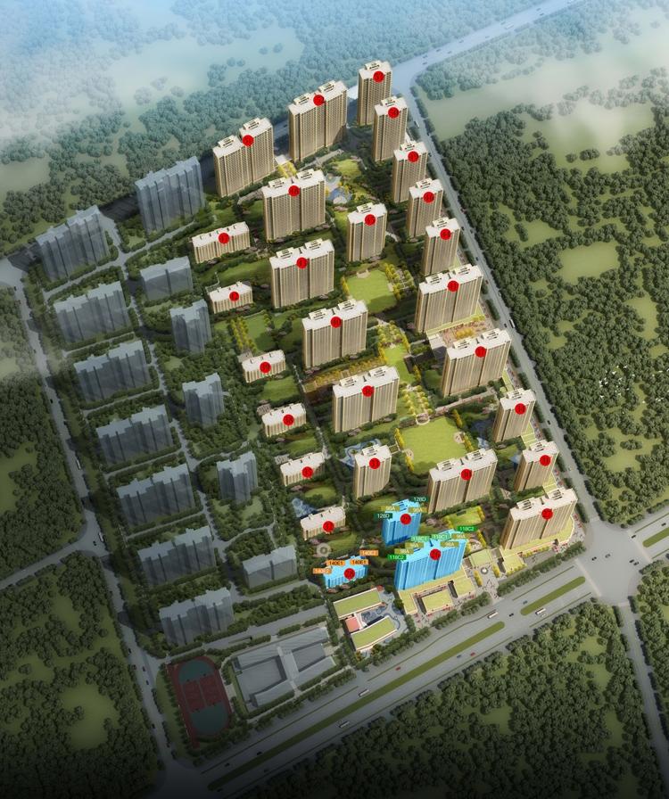 绿城桂语蘭庭项目鸟瞰图