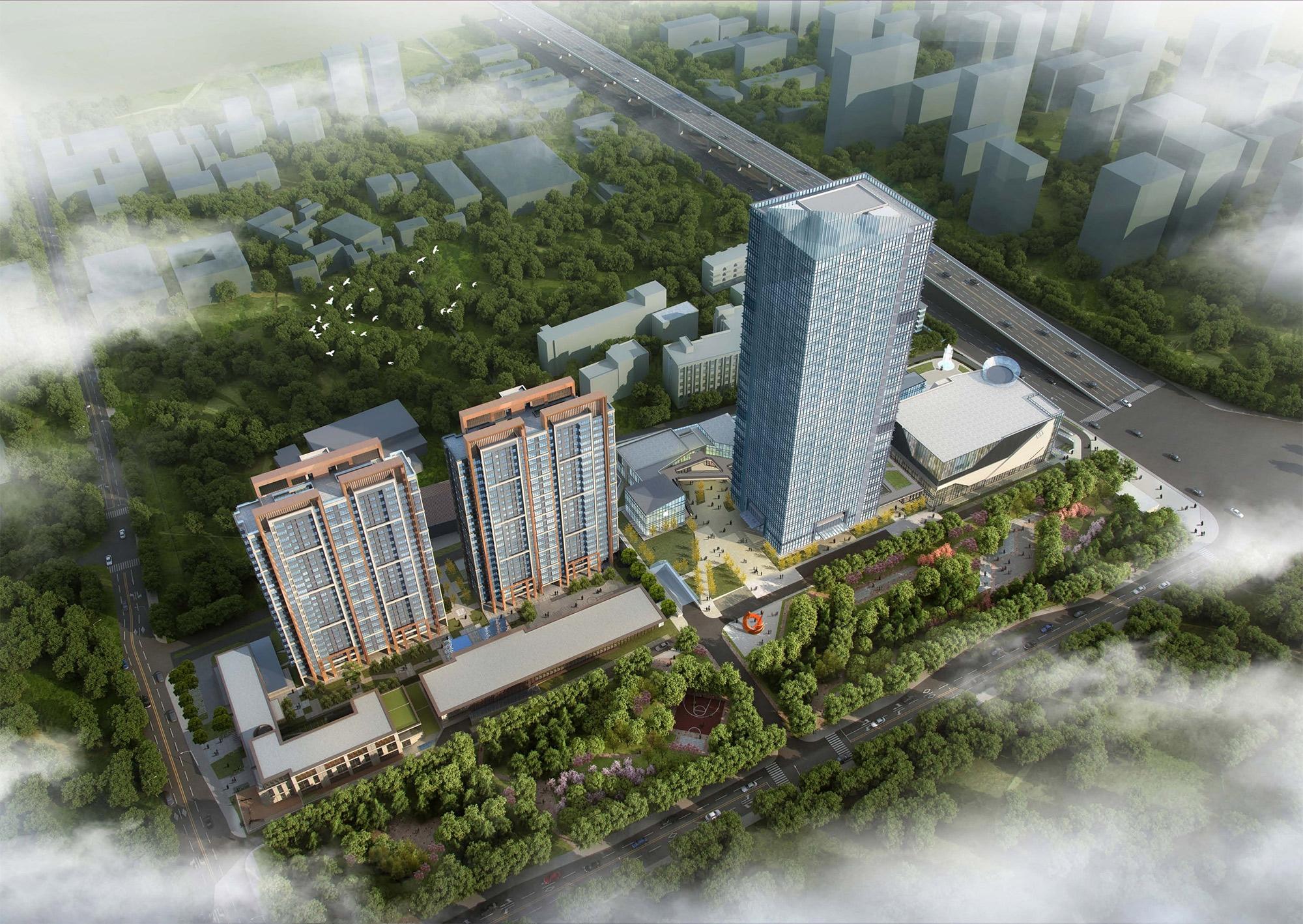 中国铁建清溪国际樾园鸟瞰图