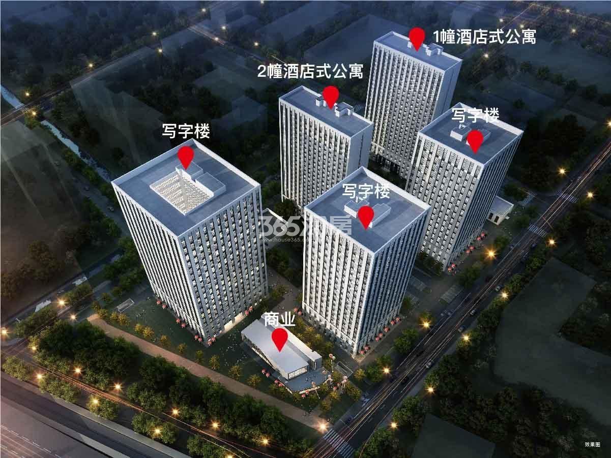 中海龙湾U-LIVE公寓中海龙湾U-LIVE鸟瞰图