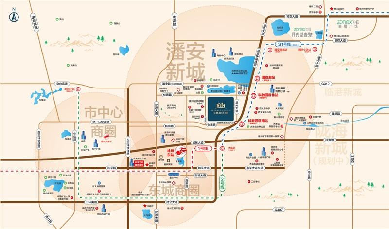 中钰翡翠天境交通图