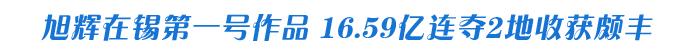 旭辉在锡第一号作品 16.59亿连夺2地收获颇丰
