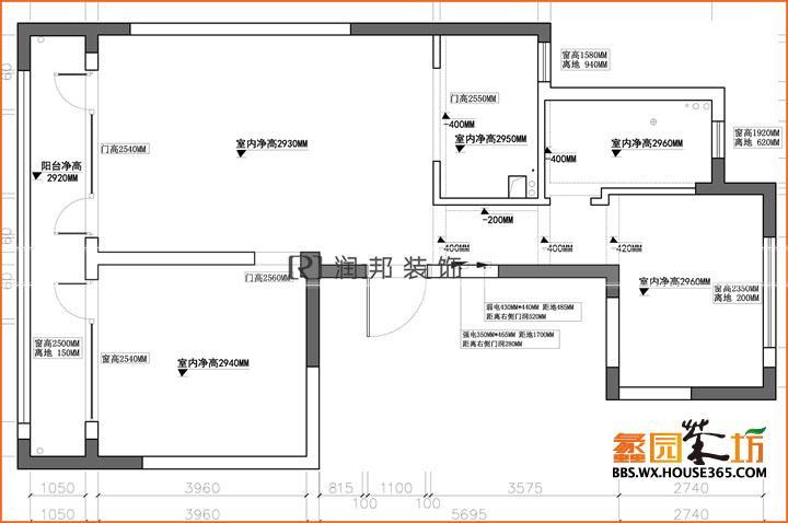 玉兰花园104平方简欧风格设计装修案例